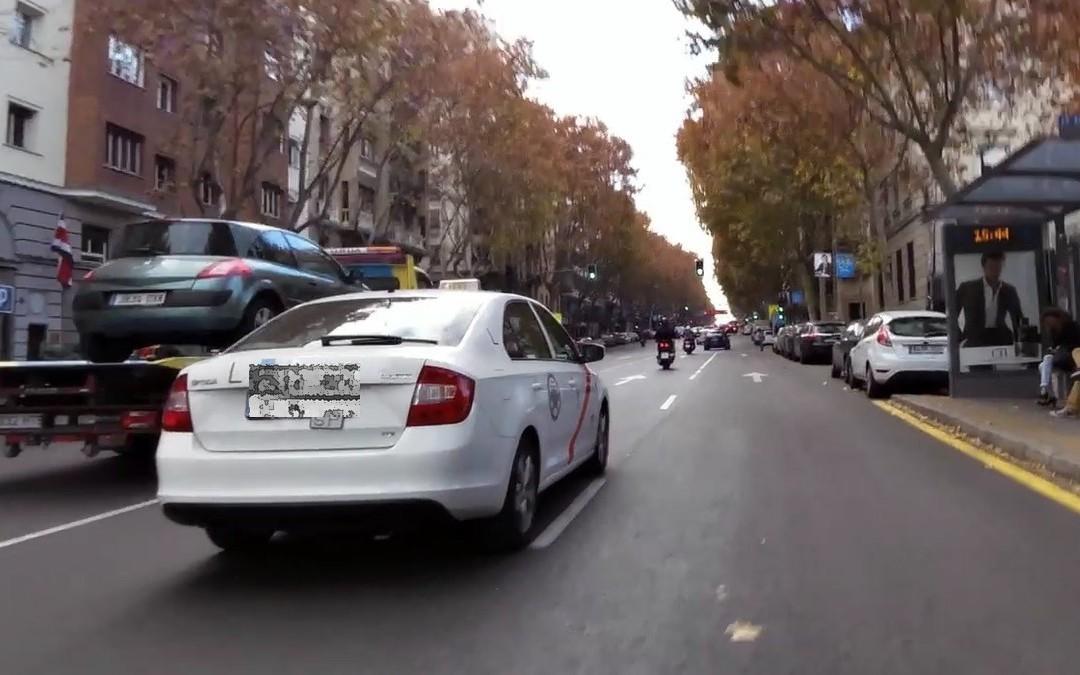 Acoso de un taxi