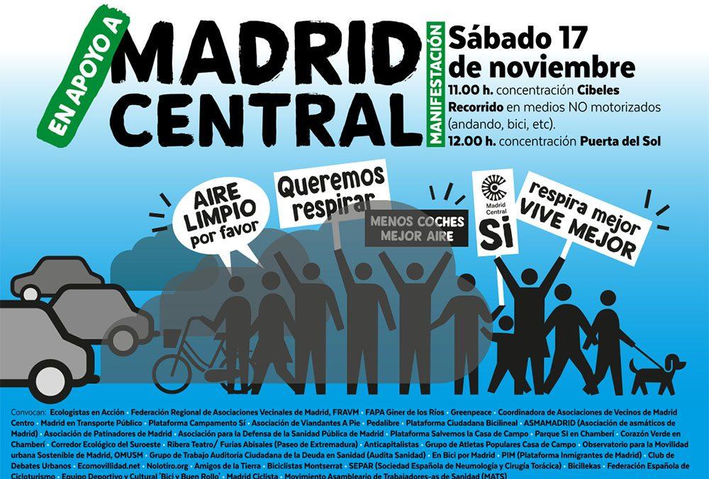 Madrid Central: necesario y urgente  #MadridCentralYa